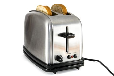 Chrome Toaster Shiny Chrome Toaster With Two Slices Of Bread The