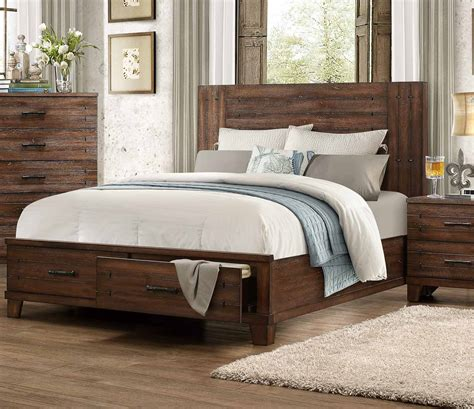 distressed wood bed homelegance brazoria bedroom set distressed natural wood 1877 bedroom set