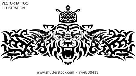 chest tattoo vector tribal stencil stock images royalty free images vectors
