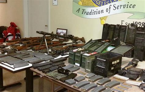 Lasd Warrant Search Stolen Weapons Seized 3 Arrested