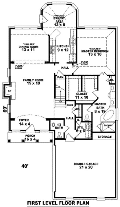 2300 square foot house plans european style house plan 3 beds 2 5 baths 2300 sq ft