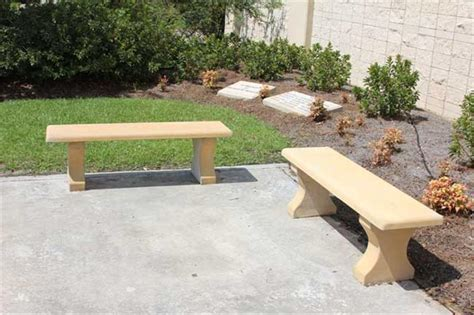 concrete memorial bench benches architectural photo gallery