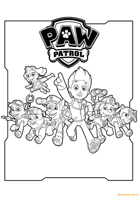 free coloring pages of paw patrol luke stars all paw patrol characters coloring page free coloring
