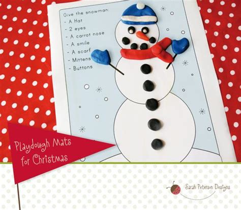 printable snowman playdough mats christmas winter themed play dough mats instant download