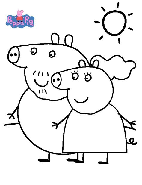 peppa pig and friends coloring pages kids n fun com 20 coloring pages of peppa pig