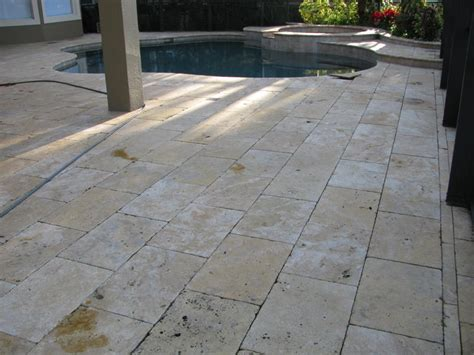 brick paverconcretepool deck travertine cleaning