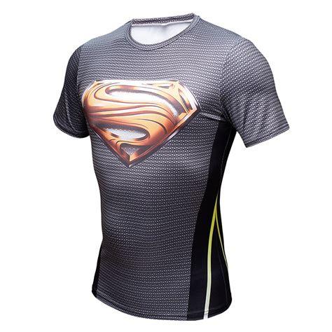 Superman Gold Longsleeve rashguard sleeve shirt crossfit superman dc gold