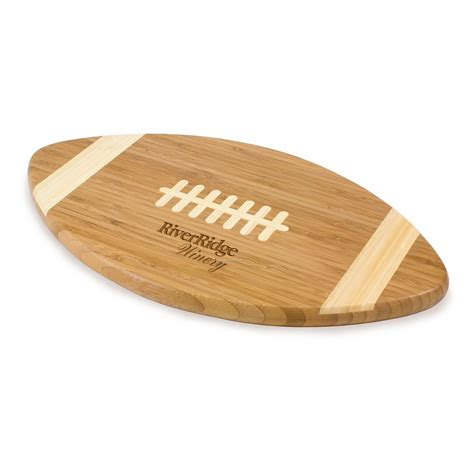 cutting board with trays touchdown football shaped bamboo cutting board serving