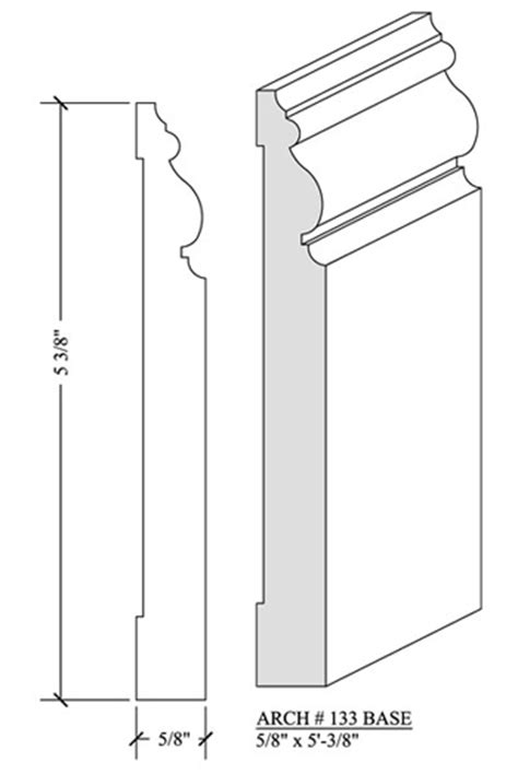 baseboard dimensions white base molding