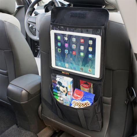 travel back seat back seat car organiser with tablet holder travel