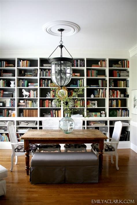 Bookshelves In Dining Room | dining room bookshelves