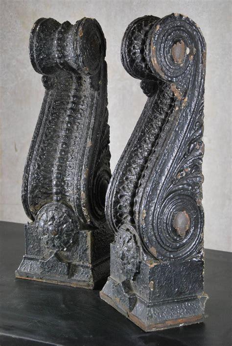 Cast Iron Corbel pair of 1910 cast iron decorative exterior corbel at 1stdibs