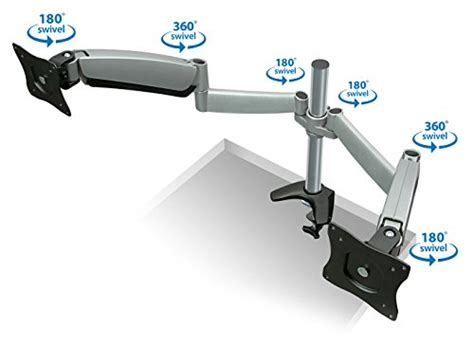 Table Mount Dual Arm Tv Bracket 100 X 100 Pitch For 15 27 Inch Tv mount it monitor desk mount dual arm with height adjustable gas arms for two lcd flat