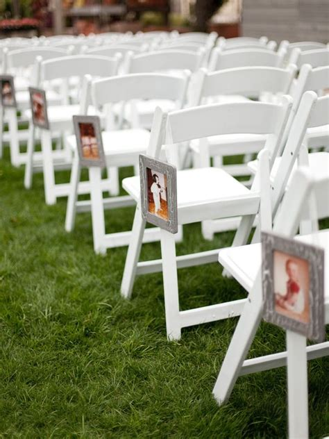diy wedding ceremony chair decorations 26 creative diy photo display wedding decor ideas tulle chantilly wedding