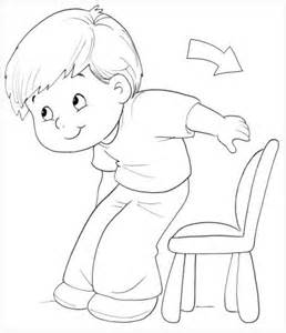 Stand Up Sit Down Coloring Sketch Page sketch template