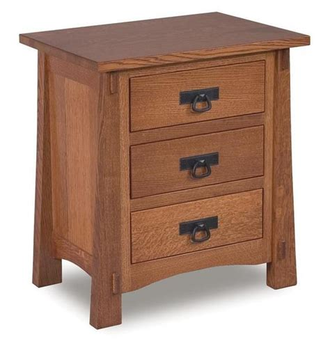 cabinets to go modesto amish modesto three drawer mission nightstand