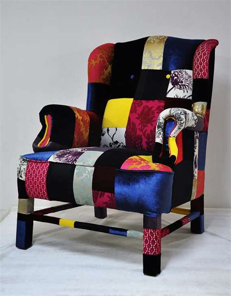 intricately patterned furniture patchwork sofas