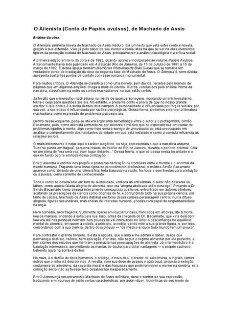 O Alienista - Análise | Contos | Science