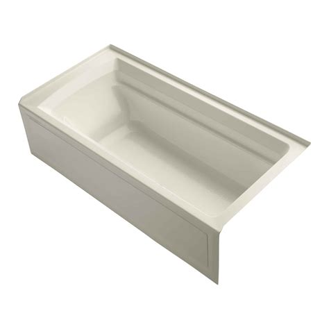 kohler 72 inch bathtub kohler archer alcove 72 quot x 36 quot soaking bathtub reviews wayfair