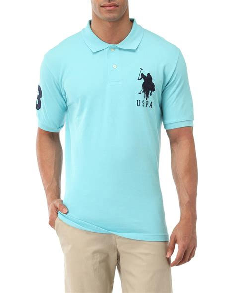 u s polo assn big logo polo shirt in blue for lyst