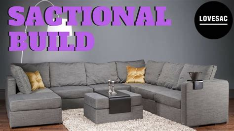 lovesac sactional review lovesac sactional build youtube