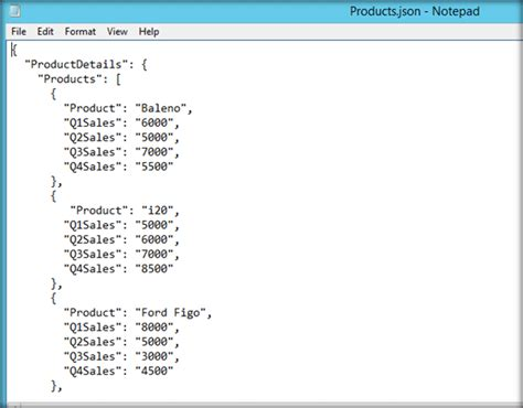 format file json generate power bi reports from data in json file