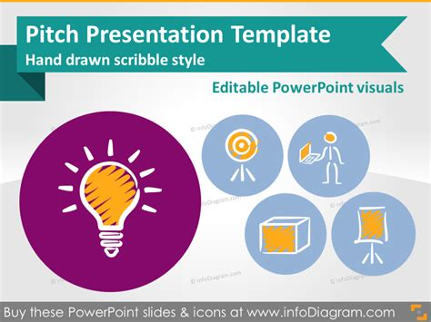 pitch deck template powerpoint pitch presentation template scribble style