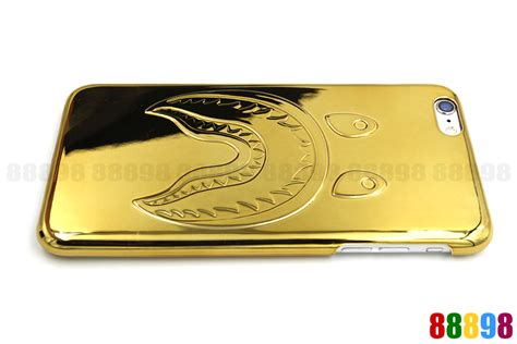 Bape Gold Iphone 6 a bathing ape bape shark gold plating phone cover for iphone 7 6 6s 7 plus ebay
