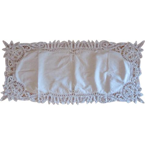 Dresser Scarves Lace by Vintage Battenburg Lace Dresser Scarf From Lakegirlvintage