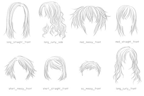 anime lineart tutorial photoshop lineart hair brushes 3 by sm exery on deviantart