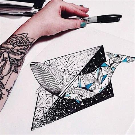 geometric tattoo whale pinterest the world s catalog of ideas
