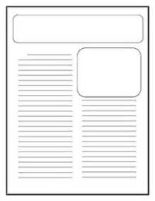 Feature Article Template For Students by Free Printable Newspaper Article Template Was Just