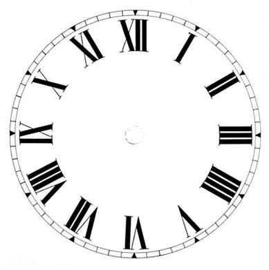 printable roman clock face printable blank clock face clipart best