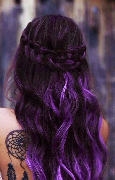 purple hair black hot styles trendy purple hair color