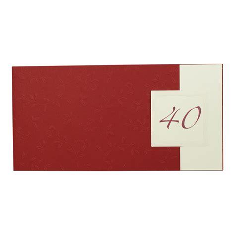 Hochzeitseinladung Dunkelrot by Einladungskarte Dunkelrot Mit Relief Und Blumenornament