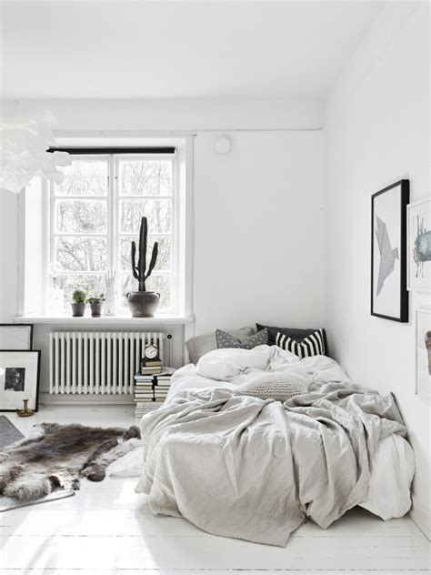 Bedroom Styling | ideas for a small scandinavian style apartment decordots