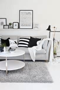 Black And White Living Room by Halcyon Wings Black White And Grey Living Room