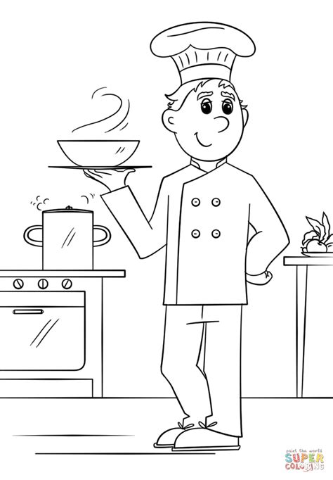 girl chef coloring page beautiful chef coloring page artsybarksy