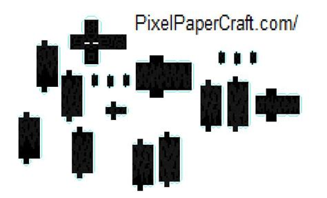 Papercraft Enderman - minecraft papercraft mutant enderman papercraft
