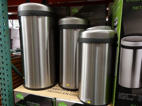home zone trash can stainless trash can trash cans with lids bathroom