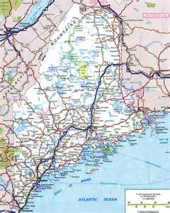 map of roads and highways large detailed roads and highways map of maine with all