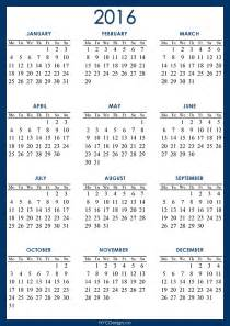 2016 calendar printable a4 paper size blue navy light blue