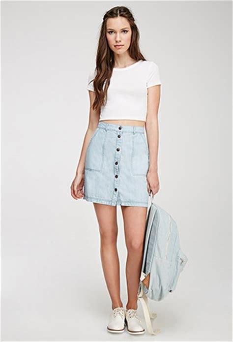 button front denim skirt forever 21 canada