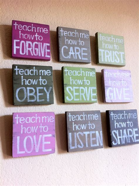 Christian Nursery Decor Inspirational Christian Quot Teach Me Quot Wood Blocks By Grace For Grace Nursery Decor By Etsy