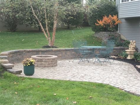 pit retaining wall an world paver patio with retaining wall and pit