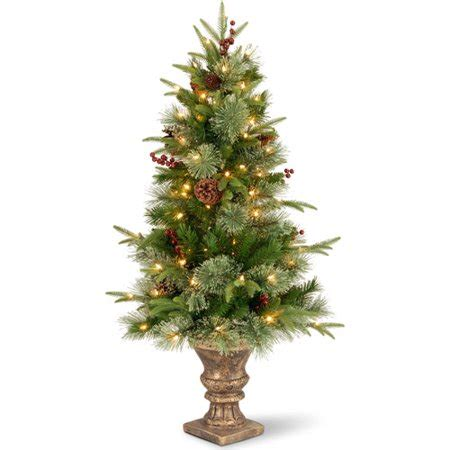 3ft colonial fir potted feel real artificial christmas tree 4 ft pre lit feel real colonial potted entryway tree walmart