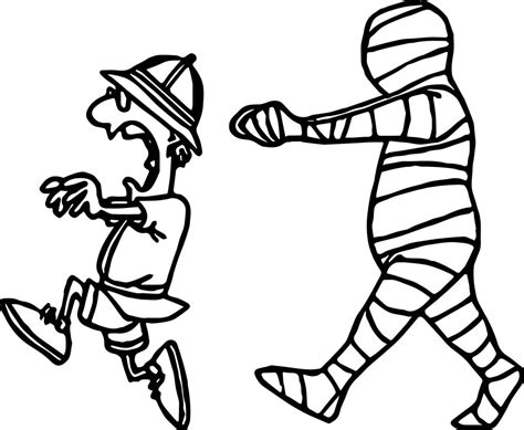 mummy coloring pages escape from mummy coloring page wecoloringpage