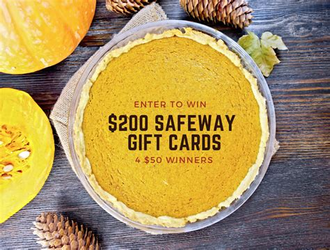 Gift Cards For Cash At Safeway - october gift card giveaway enter to win 200 in safeway gift cards super safeway