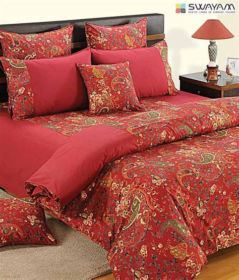 red paisley comforter swayam red paisley print comforter buy swayam red