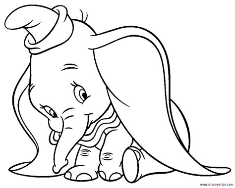 Free Coloring Pages Of Disney Dumbo Dumbo Coloring Pages